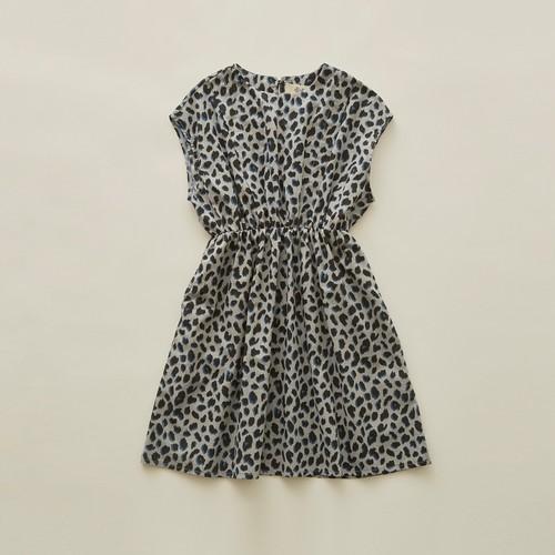 《eLfinFolk 2020SS》leopard dress / gray / 90・100cm