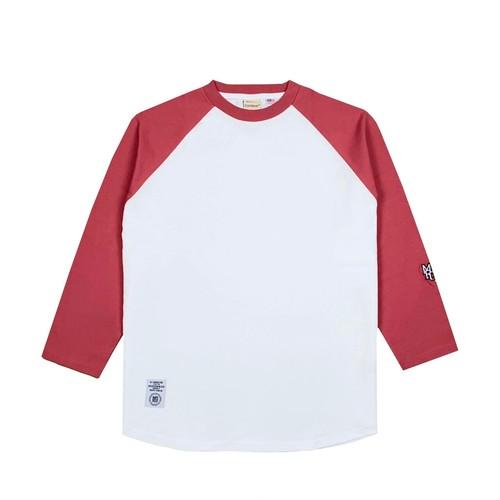 MFC STORE x Goodwear 7L RAGLAN TEE / WHITE x PINK