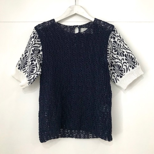 Yeti LACE TUCK KNIT TOP