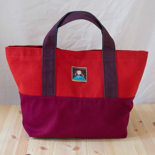tote bag M / red x wine /