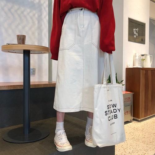 【ボトムス】秋新入韓国版合わせやすい学園風Aラインロングスカート