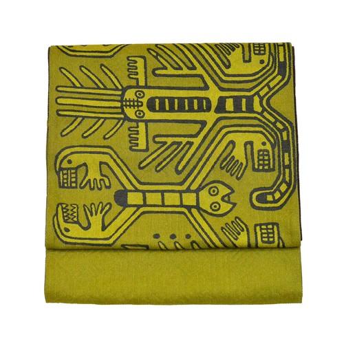 縮々織 袋帯