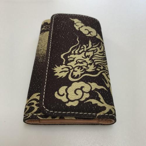 キーケース kk0086 西陣織&ヌメ革