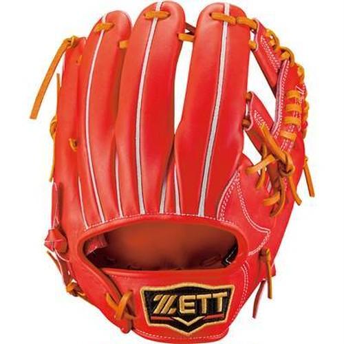 【最高品質】硬式内野手用 DオレンジXオークブラウン ZETT PROSTATUS 【湯もみ型付け無料】