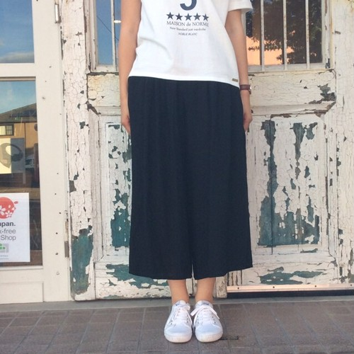 【Le minor】linen wide pants