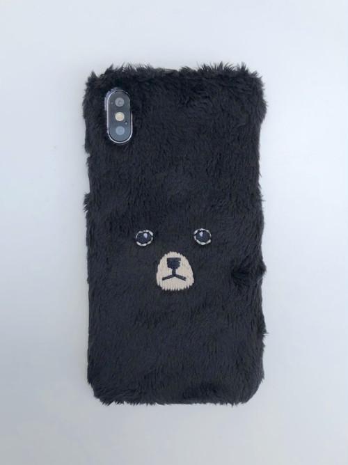 【iPhoneX/Xs専用】くまiPhoneケース【ブラック】