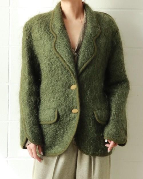 Green knit jacket
