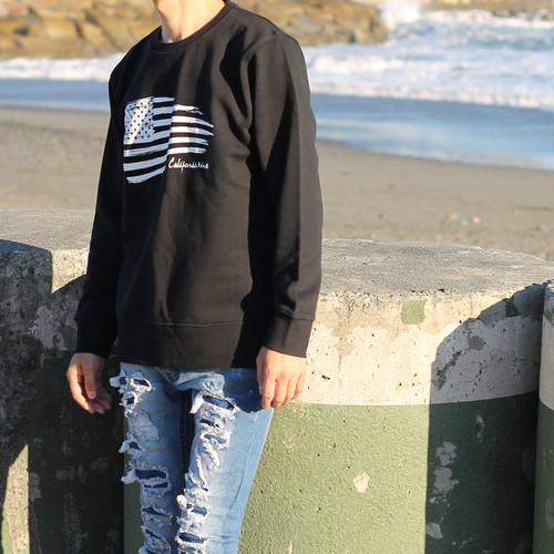 American Flag 【スタイリッシュトレーナー 】ブラック