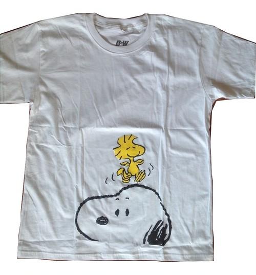 スヌーピー Snoopy ビーグル犬 アニメ プリントTシャツ