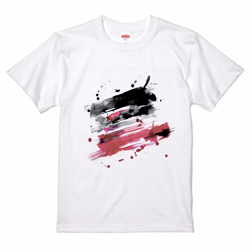 Abstract Water Color Brush Art Tee T-Shirt