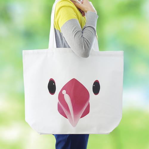 かわいい文鳥の大きくて丈夫なトートバッグ