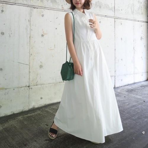 ストリングロングドレス(ホワイト)