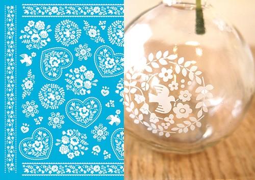 【ガラス用】 チロリアンワッペン ホワイト A3 (ポーセリンアート転写紙)