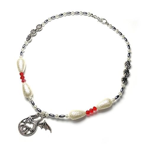SAD44mg「 Dragon Pearl 」Handmade Necklace