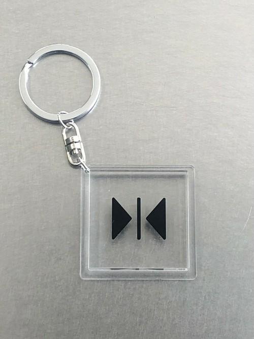 キーホルダー【閉】透明角