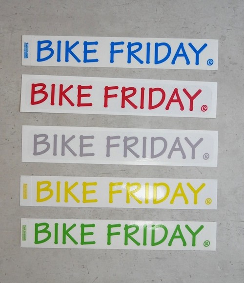 Decals, BIKE FRIDAY Large, BL,GR,RD,YL,GY