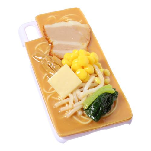 [8110]食品サンプル屋さんのスマホケース(iPhoneX:味噌ラーメン[ホワイト])【メール便不可】