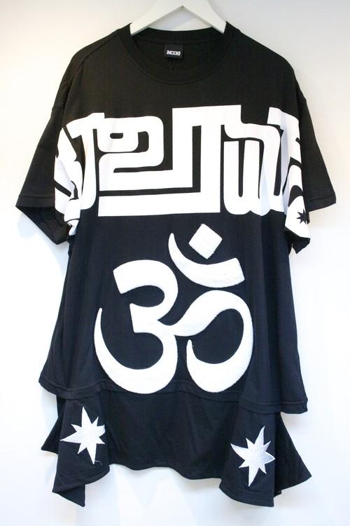 KTZ OM APRON T-SHIRT OM エプロン Tシャツ / BLACK PRE SALE ¥34,560→10%OFF