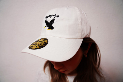 "[予約商品]RAKUGAKI 2020 ""BLACK HAWK"" Logo Dad Cap White"