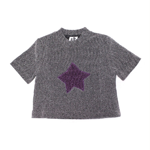 【SOMEWHERE NOWHERE】SPARKLE T-SHIRT silver gray