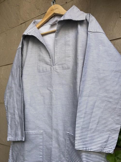 British fisherman smock stripes pattern
