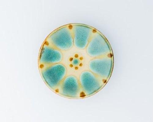 5寸皿 緑釉薬 ノモ陶器製作所