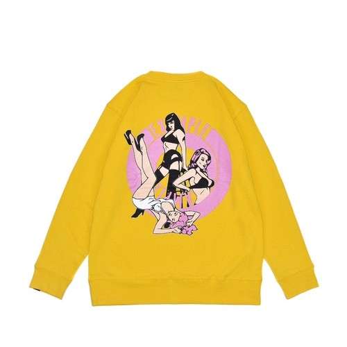 SEXY WOMEN'S ROUND CREW NECK / YELLOW