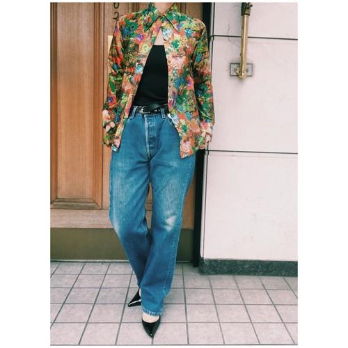 1970's LANVIN flower print blouse