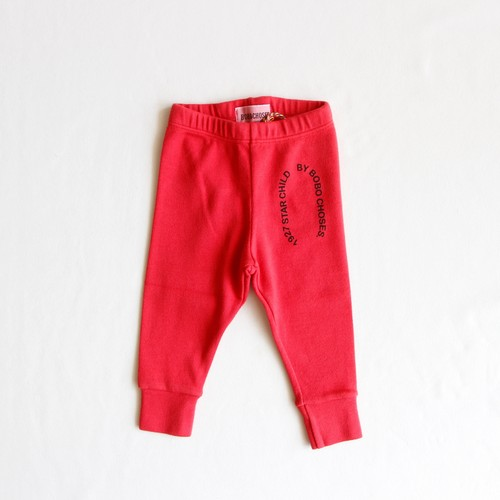 《BOBO CHOSES 2019AW》Starchild patch red leggings / 6-36M