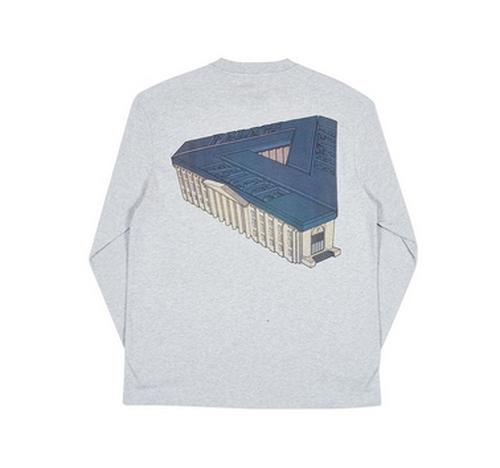 Palace Palazzo Long Sleeve T-shirt Grey
