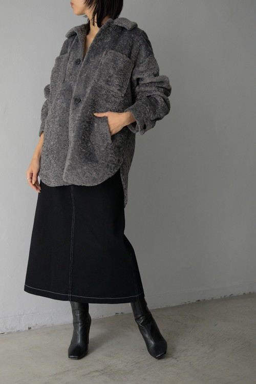 G.V.G.V. / FAKE FUR SHIRT JACKET (grey)