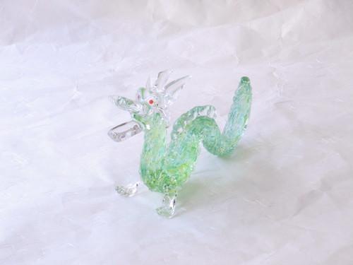 日本製 手づくりガラス細工 ドラゴン(龍)