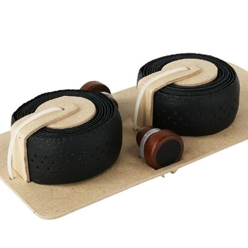本革バーテープ / ブラック☆木製エンドキャップ付属