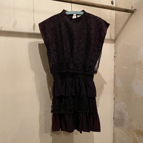80s Lace dress / USA