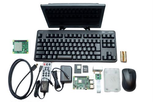 ツクレルマイPCスターターキット《スーパーノヴァ》メモリ4GBタイプ 無線マウス+キーボード+Raspberry Pi 4+ディスプレイ + カメラ等周辺機器+教材4種付