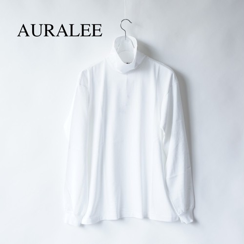 AURALEE/オーラリー ・LUSTER PLATING HI NECK L/S TEE
