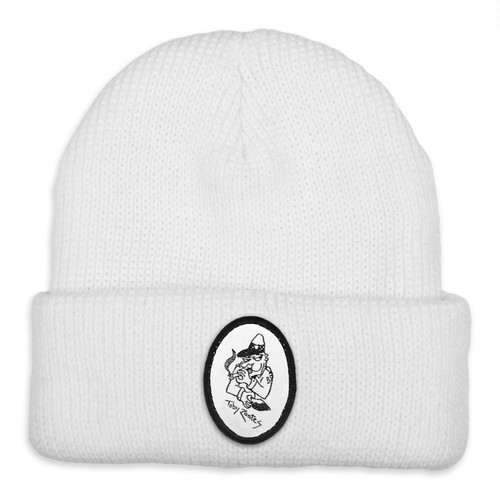 PASS PORT / TOBY ZOATES COPPER BEANIE -WHITE-