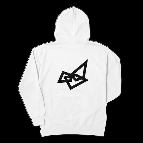 Sapsan・Backlogo white hoodie Parker 4size