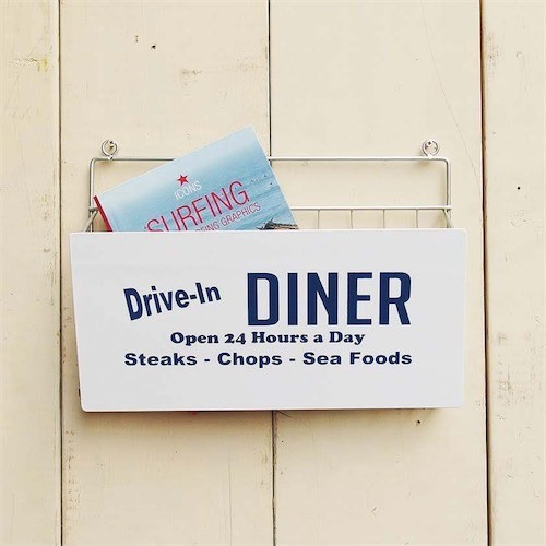 WIRE WALL RACK DINER 101199