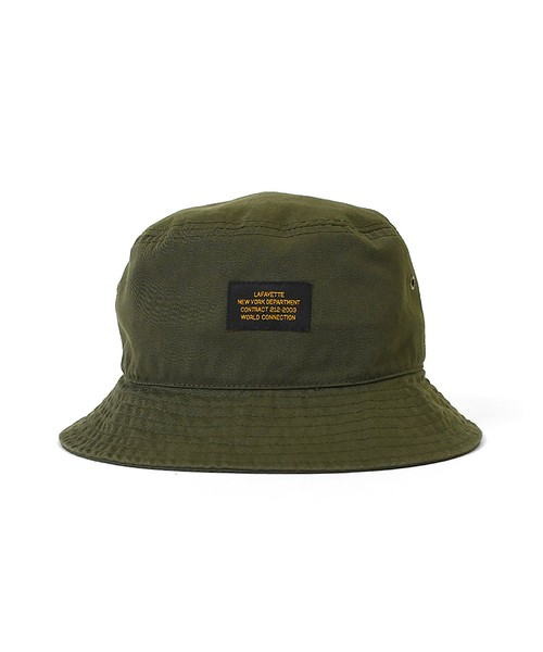 LFYT MILITARY LABEL BUCKET HAT / OLIVE
