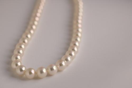 普通の真珠屋の【8ミリアコヤネックレスATNJ#AK001】