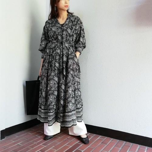 ne Quittez pas(Ethnic Print Front Open Dress)