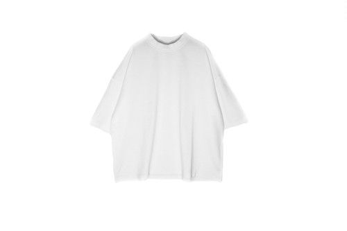 Mock Neck Tshirt White