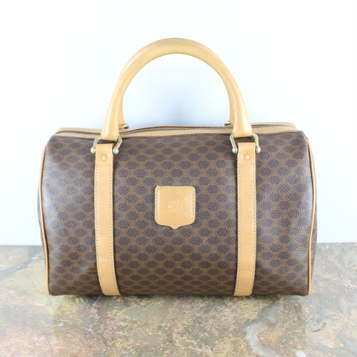 .OLD CELINE MACADAM PATTERNED BOSTON BAG MADE IN ITALY/オールドセリーヌマカダム柄ボストンバッグ2000000046426