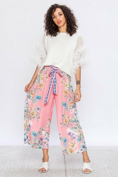 Flower Wide Pants(Ladys)