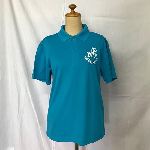 YABUSAME象形ロゴ 半袖ポロシャツ(ターコイズ)