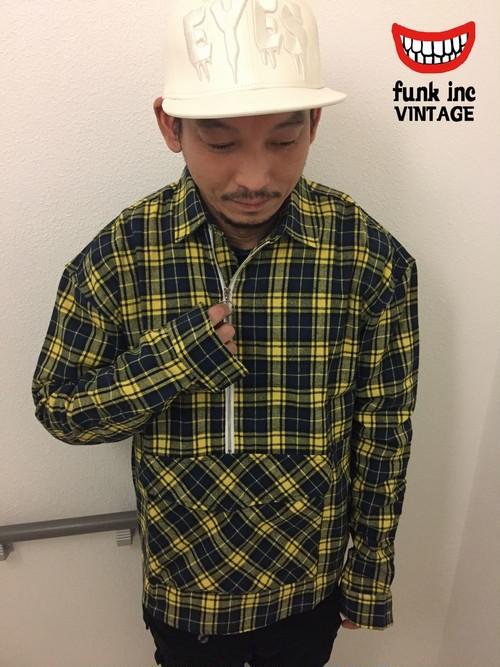 【在庫あり】1830360106.0094 チェック柄アンバランスジップシャツ
