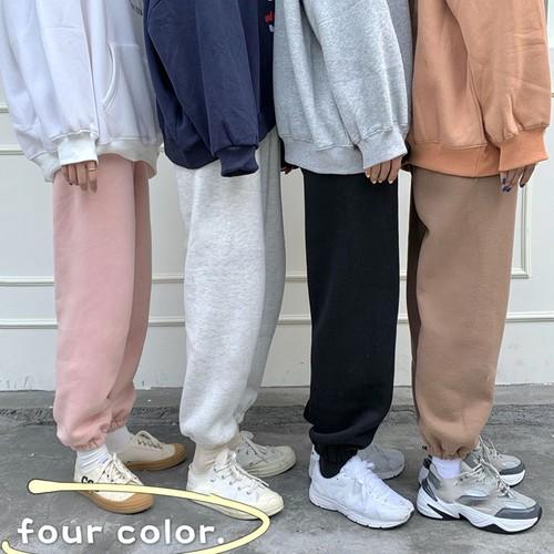 【ボトムス】韓流ファッションゆったり裏起毛ビーム足カジュアルパンツ