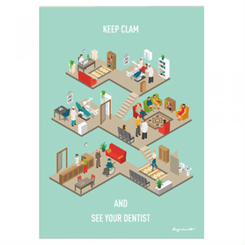 Dental clinic (isometric) B2ポスター