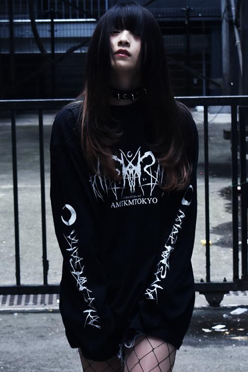 「死文字/Death Logo」 Long T-Shirt Black